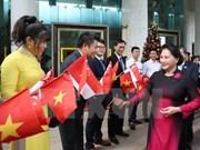 国会主席阮氏金银圆满结束对新加坡和澳大利亚的正式访问