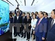 阮春福出席海防市各大经济社会工程竣工仪式