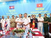 越柬第24次联合巡逻经验总结会议在坚江省举行