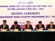 越南与国际劳工组织签署可持续就业合作计划