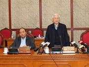 越共中央政治局召开会议:阮富仲要求做好干部工作