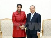 越南政府总理阮春福会见即将离任的南非驻越大使