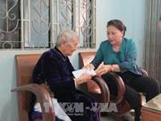 国会主席阮氏金银赴庆和省调研