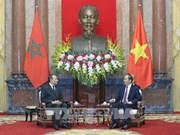 越南国家主席陈大光会见摩洛哥众议院议长哈比博·马勒克