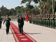 本扬•沃拉吉同志造访越南人民军队第四军区