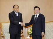 越南政府副总理郑廷勇会见缅甸-越南友好协会主席