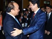 越南政府总理阮春福与日本首相安倍通电话