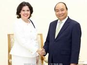 越南政府总理阮春福分别会见外国新任驻越大使