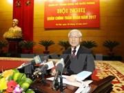 阮富仲总书记:增强国防实力 实现政治稳定、经济繁荣、国防强大目标