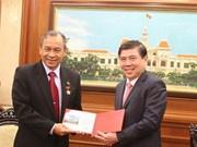 印度尼西亚驻胡志明总领事向胡志明市人民委员会主席阮城锋辞行