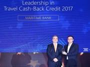 越南海事商业股份银行荣获2017年越南最佳旅游返现信用卡奖
