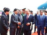 阮春福总理抵达金边开始出席澜沧江-湄公河合作第二次领导人会议之旅