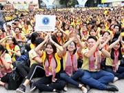 3万多名学生和大学生参加在胡志明市举行的春节志愿者活动