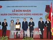 国家副主席邓氏玉盛授予第一生命保险(越南)三级劳动勋章
