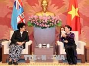 越南国会主席阮氏金银会见斐济议长吉科•卢维尼