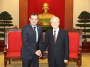 越共中央总书记阮富仲会见墨西哥参议长埃内斯托