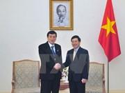 越南政府副总理范平明会见日本参议院议员代表团
