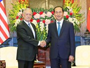 越南国家主席陈大光会见美国国防部长马蒂斯