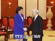 越共中央总书记阮富仲会见古巴新任驻越大使