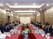 越南与老挝力争建设按时保质的老挝国会大厦工程