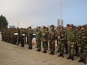 老街省边防部队与中国红河州公安边防支队开展2018年首次边境联合巡逻活动
