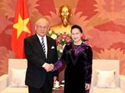 国会主席阮氏金银会见日越友好议员联盟特别顾问武部勤