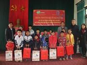 韩国国际饥饿对策机构向贫困户和橙毒剂受害者赠送春节慰问品