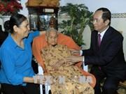 越南国家主席陈大光继续开展新春走基层活动