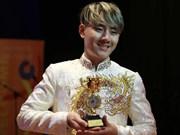 越南选手阮世越在第六届亚太艺术节夺得金奖