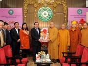 河内市委书记黄忠海给越南佛教协会领导拜年