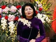 国家副主席邓氏玉盛出席迎新春见面会