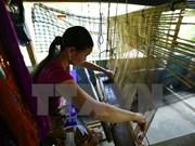 佬族同胞努力保护传统锦缎编织工艺业