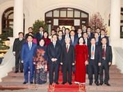 越共中央总书记阮富仲给河内市党部、政府和市民拜年