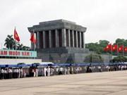 2018年春节放假期间拜谒胡志明主席陵墓的游客量达1.8万多人次