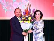 阮春福总理向党政机关干部职工拜年