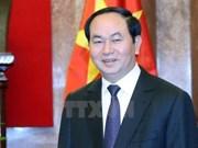 越南国家主席陈大光偕夫人离开河内前往印度进行访问