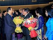 越南国家主席陈大光开始对印度共和国进行国事访问