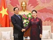 国会主席阮氏金银会见缅甸联邦议会副议长艾达昂
