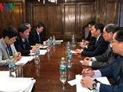 越南工贸部长陈俊英与日本、智利和墨西哥三国代表举行双边会晤