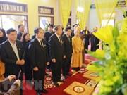 政府副总理张和平前来告别越南佛教协会中央证明理事会副法主释清衫和尚