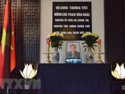 越南驻世界多国大使馆举行前越南总理潘文凯吊唁仪式