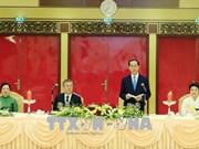 越南国家主席陈大光举行盛大国宴 欢迎韩国总统文在寅到访