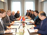 国会主席阮氏金银会见荷兰-越南工商会领导