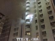 曼谷一幢公寓发生火灾  9名越南人受伤