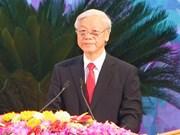 越共中央总书记阮富仲致电祝贺奥利维耶当选法国社会党总书记