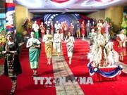在承天顺化省的老挝留学生欢度传统新年