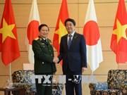 越南国防部部长吴春历对日本进行工作访问