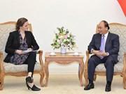 越南政府总理阮春福会见丹麦卫生部部长