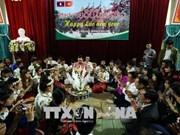 奠边省老挝留学生欢度老挝传统新年