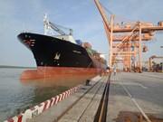 海防新武港迎来史上最大集装箱船